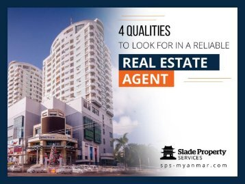 4 Traits of a Good Real Estate Agent in Yangon