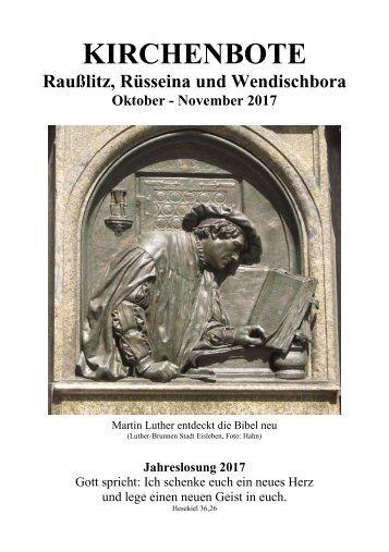 Kirchenbote Oktober, November 2017