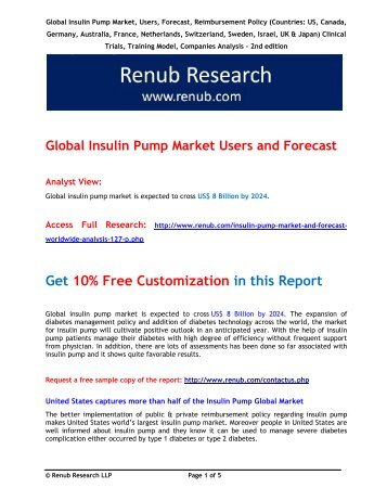 Global Insulin Pump Market and Forecast