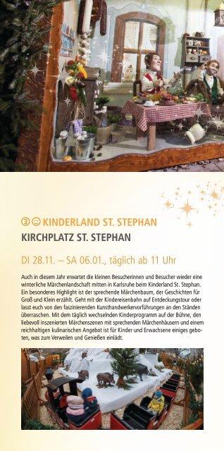 Weihnachtsstadt Karlsruhe - Kinderland St. Stephan