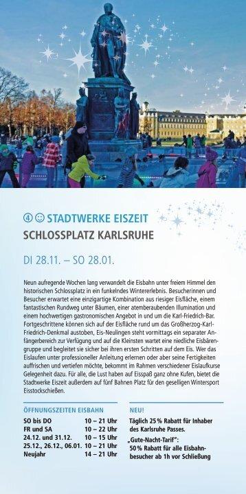 Weihnachtsstadt Karlsruhe - Stadtwerke Eiszeit