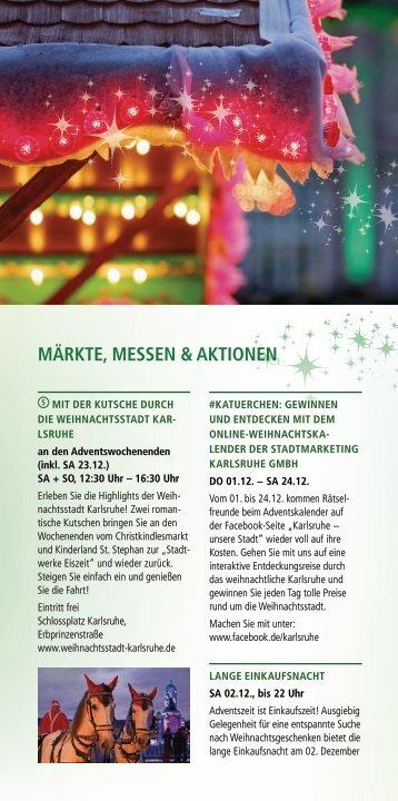 Weihnachtsstadt Karlsruhe - Märkte, Messen & Aktionen