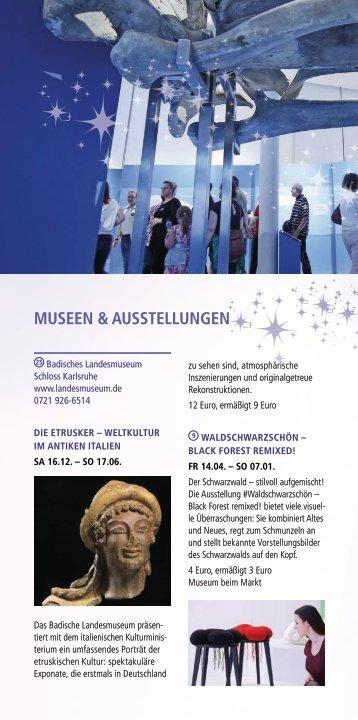 Weihnachtsstadt Karlsruhe - Museen & Ausstellungen