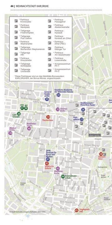 Weihnachtsstadt Karlsruhe - Innenstadtplan
