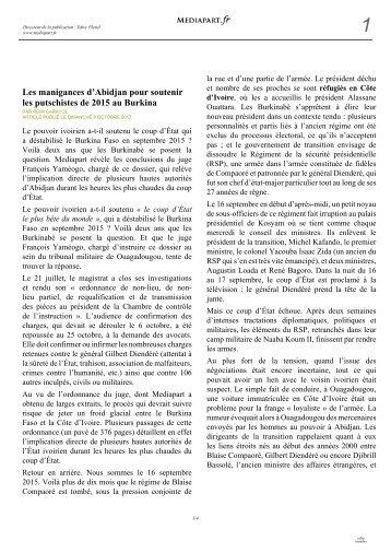 Mediapart RCI/Putsch RSP