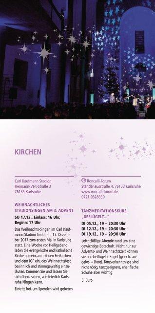Weihnachtsstadt Karlsruhe - Kirchen