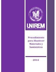 UNIREM-CAC-PRO-01 ABASTECIMIENTO MATERIALES Y SUMINISTROS