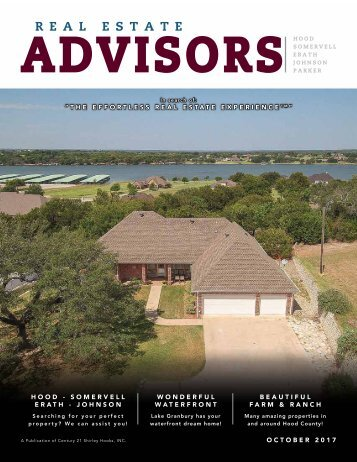 The Real Estate Advisors Magazine - October 2017