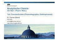 Anwendungsbeispiele HPLC - Analytische Chemie - ETH Zürich