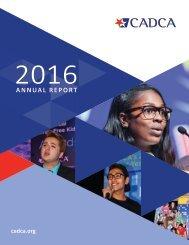 CADCA 2016 Annual Report