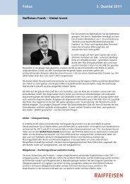Fokus 3. Quartal 2011 - Raiffeisen