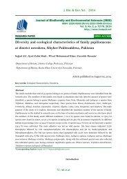 Diversity and ecological characteristics of family papilionaceae at district nowshera, Khyber Pakhtunkhwa, Pakistan