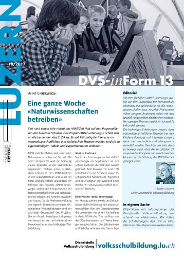 DVS-inForm 13, Oktober 2017