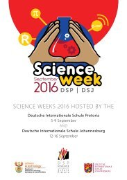 DSP / DSJ Science Week 2016