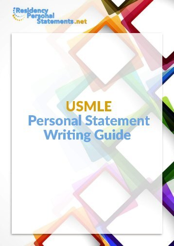 USMLE Personal Statement Writing Guide