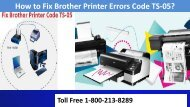 How to Fix Brother Printer Errors Code TS-05