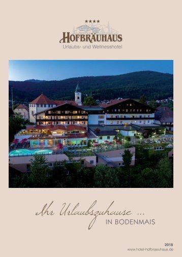 Hotelprospekt Hofbräuhaus in Bodenmais