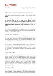Press release Embargo, 16 August 2012, 6:00 am Raiffeisen interim ...