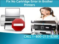 Fix No Cartridge Error In Brother Printers