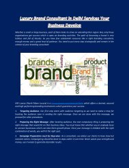 Luxury Brand Consultant in Delhi Services Your Business Increase