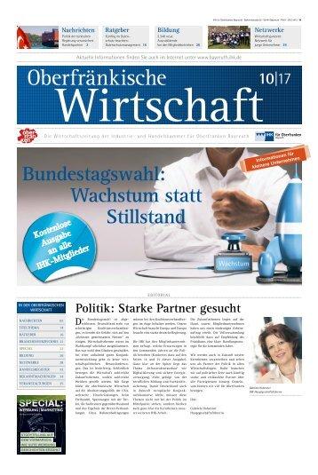 Oberfränkische Wirtschaft Ausgabe 10.2017