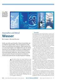 Wasser: Anomalien und Rätsel