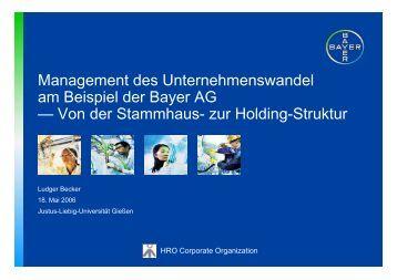 Management des Unternehmenswandel am ... - Org-Portal.org