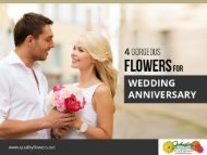 4 Best Flowers for Your Wedding Anniversary