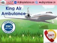 King Air Ambulance Service in Raipur with Emergency Service