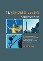 Abstractband zum 16. Kongress des Bundesverbandes Legasthenie
