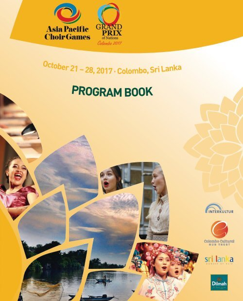 4th Asia Pacific Choir Games - ProgramBook