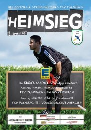 TSV Palmbach Saison 17-18 Heft 05