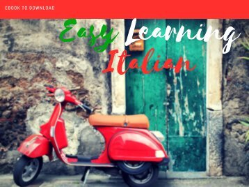 eBook Easy Learning Italian Language Free To Download