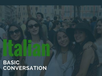 eBook Italian Basic Conversation Free To Download