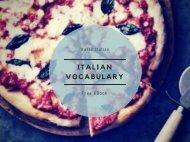 eBook Italian Vocabulary Free To Download