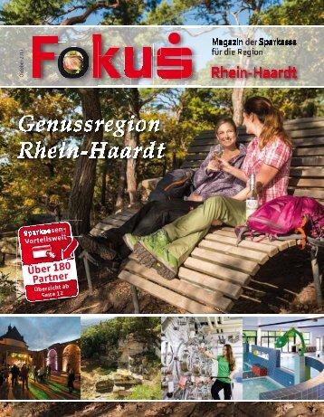 Fokus Ausgabe Oktober - Genussregion Rhein-Haardt