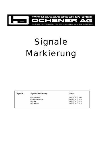 Signale Markierung