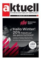 Aktuell Obwalden 41-2017