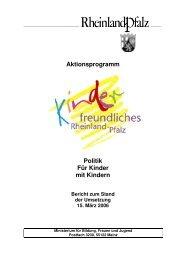 Zwischenbericht - Ministerium für Integration, Familie, Kinder ...