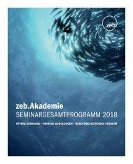 zeb.Seminar - Gesamtbroschüre 2018