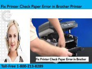 Fix Printer Check Paper Error in Brother Printer