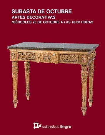 Subasta Artes decorativas Octubre 2017
