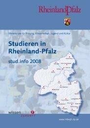 Studieren in Rheinland-Pfalz stud.info 2008 - Ministerium für ...