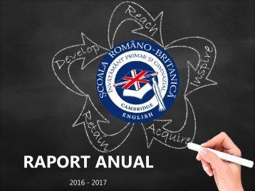 Raport de activitate 2016-2017
