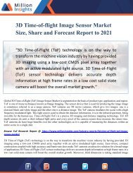 3D Time-of-flight Image Sensor Market Size, Share and Forecast Report to 2021