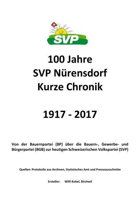 100 Jahre SVP Nürensdorf