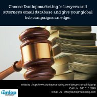 Lawyer Email Database Dunlopmarketing