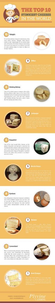 The Top 10 Stinkiest Cheeses in the World