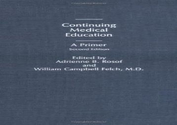 Continuing-Medical-Education-A-Primer-2nd-Edition