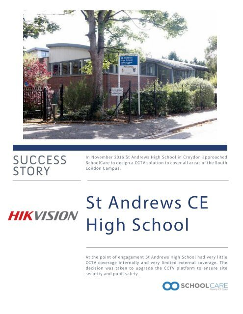 Success Story Brochure - St Andrew's High School
